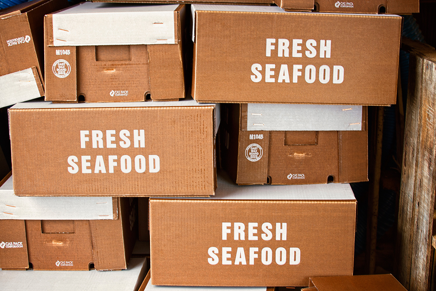 Boxed Fresh Seafood, Gosman's Fish Dock