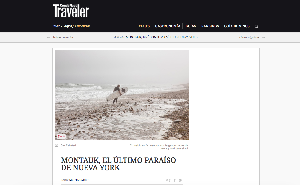 Conde Nast Traveler Magazine (Spain)