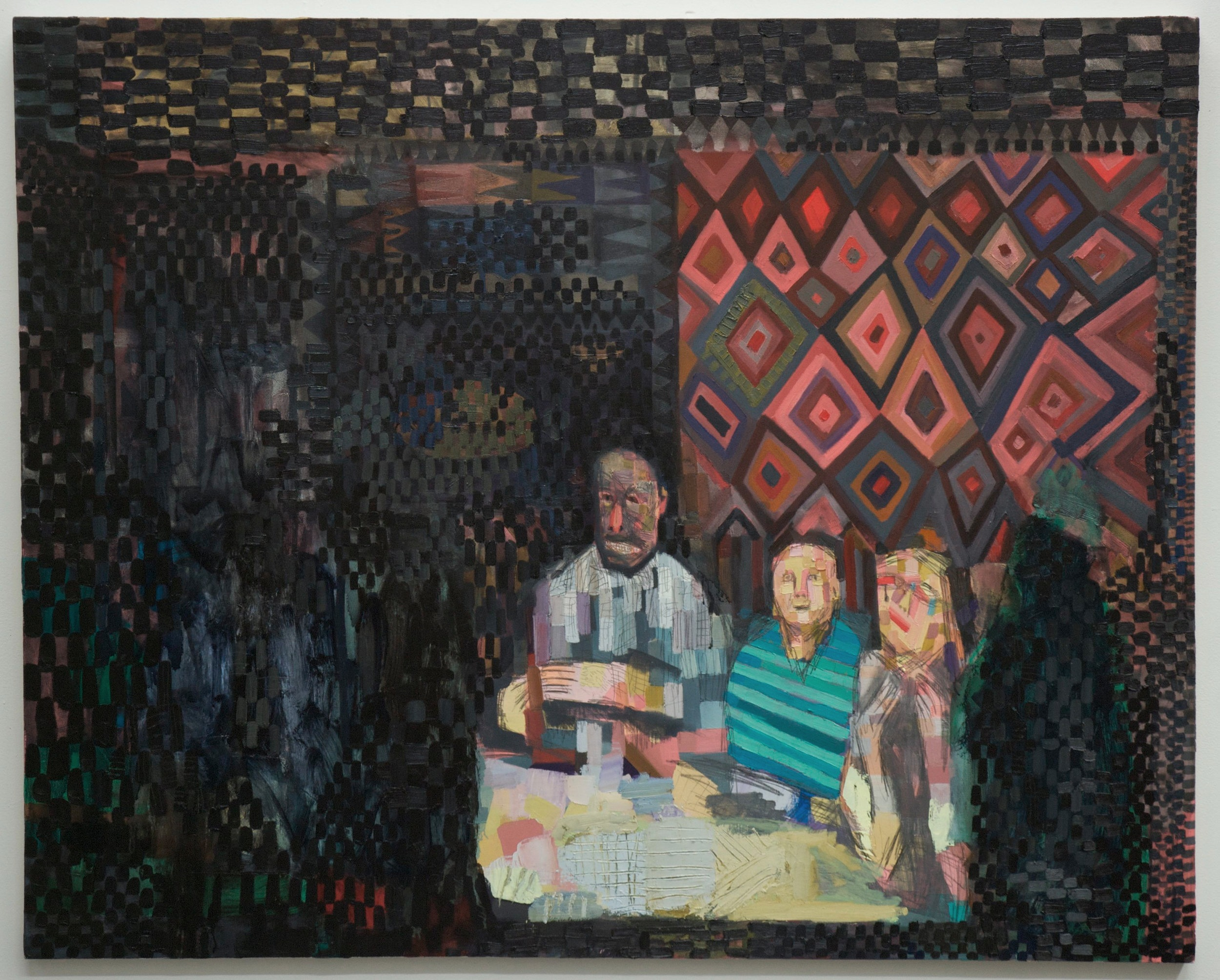Dividing the Body (Family Portrait)  2012, Oil on Canvas, 48x60 inches