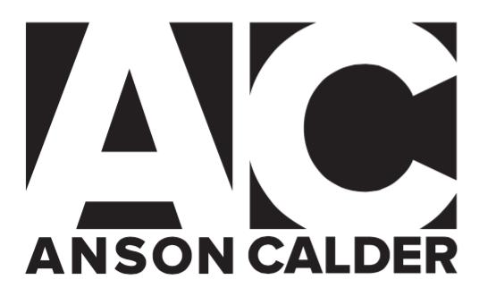 ANSON CALDER  PRODUCT AD