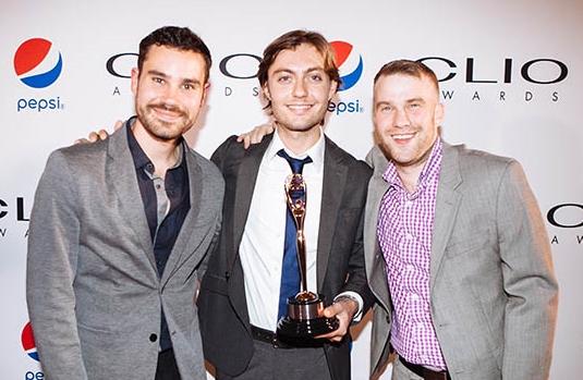 Producers Jared Kinsler, John Parsons, and Jake Linder at the Clio Awards