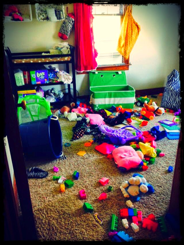 (The infamous toy room. This disaster literally takes them roughly 11                           seconds to complete)