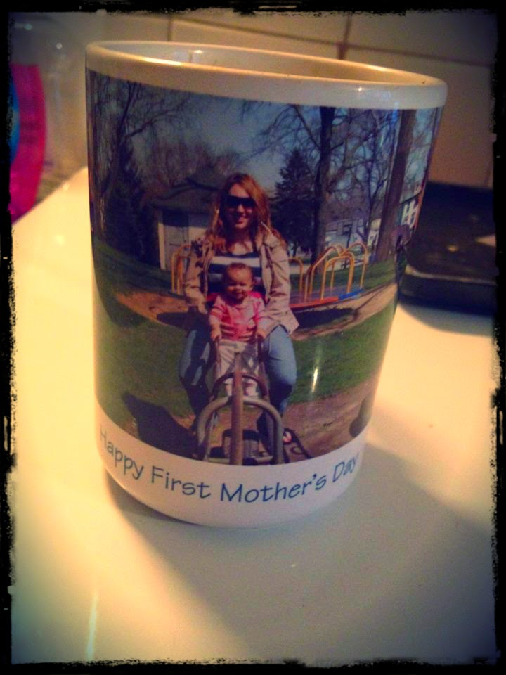 My most favorite coffee mug! Phillip got this for me for my very first Mother's Day!