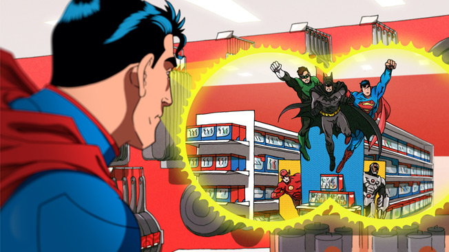 Really Superman? How can you see yourself with Batman WHILE using your x-ray vision?