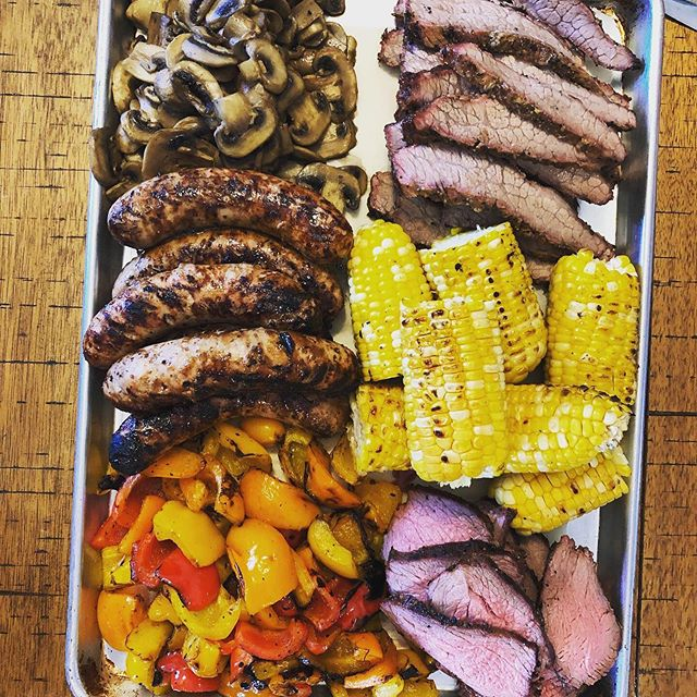 First BBQ platter of the year. Anyone ever want to come over for one of these?! #weberkettle #weber #bbqplatter #lowandslow #bbqsmoker