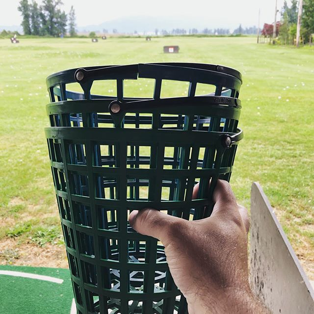 Bring your bucket back. It's standard driving range courtesy 😉 #aroundchilliwack #golfchilliwack