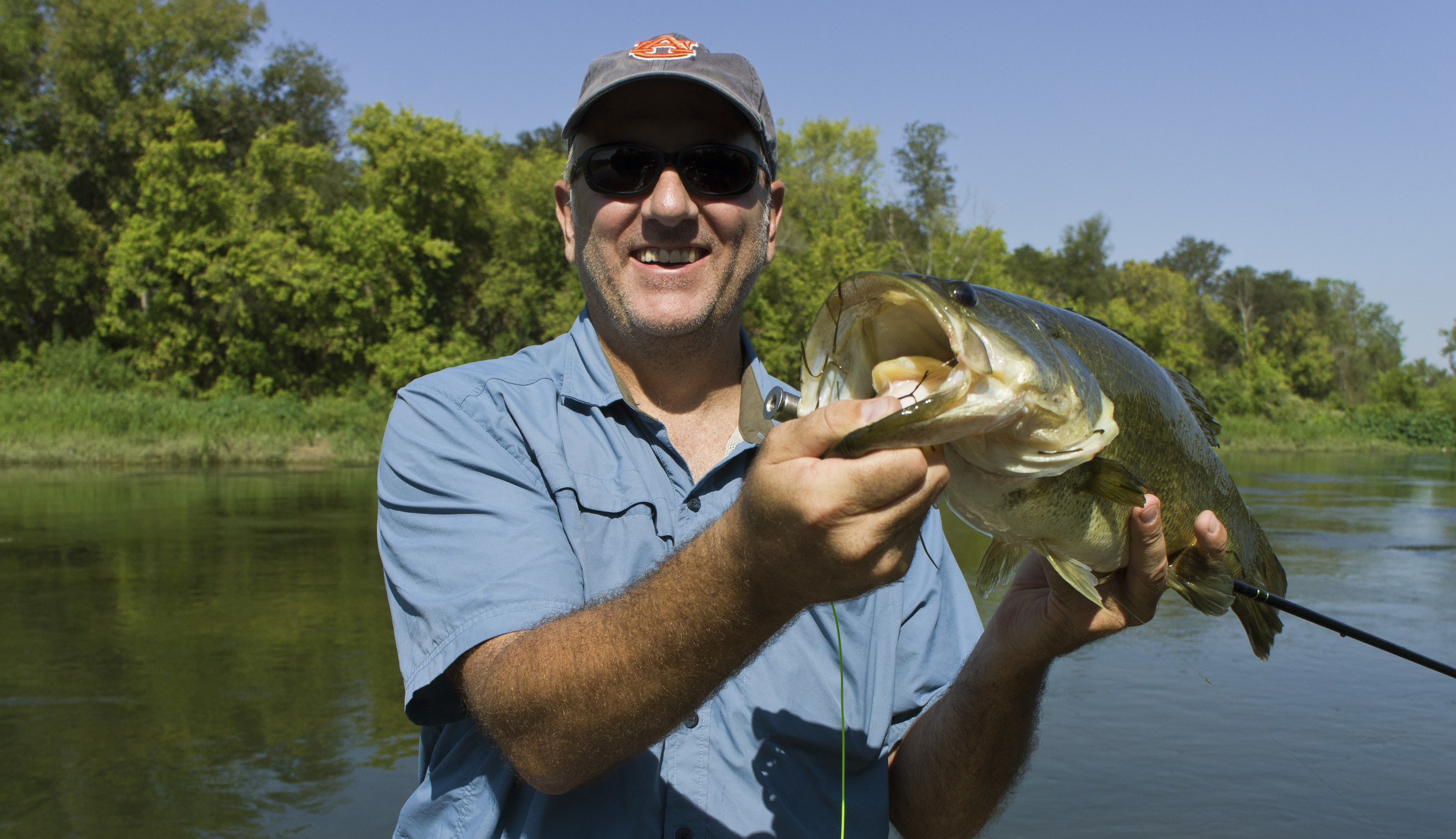 Jim Canning with a 5 pound bass from the Colorado River