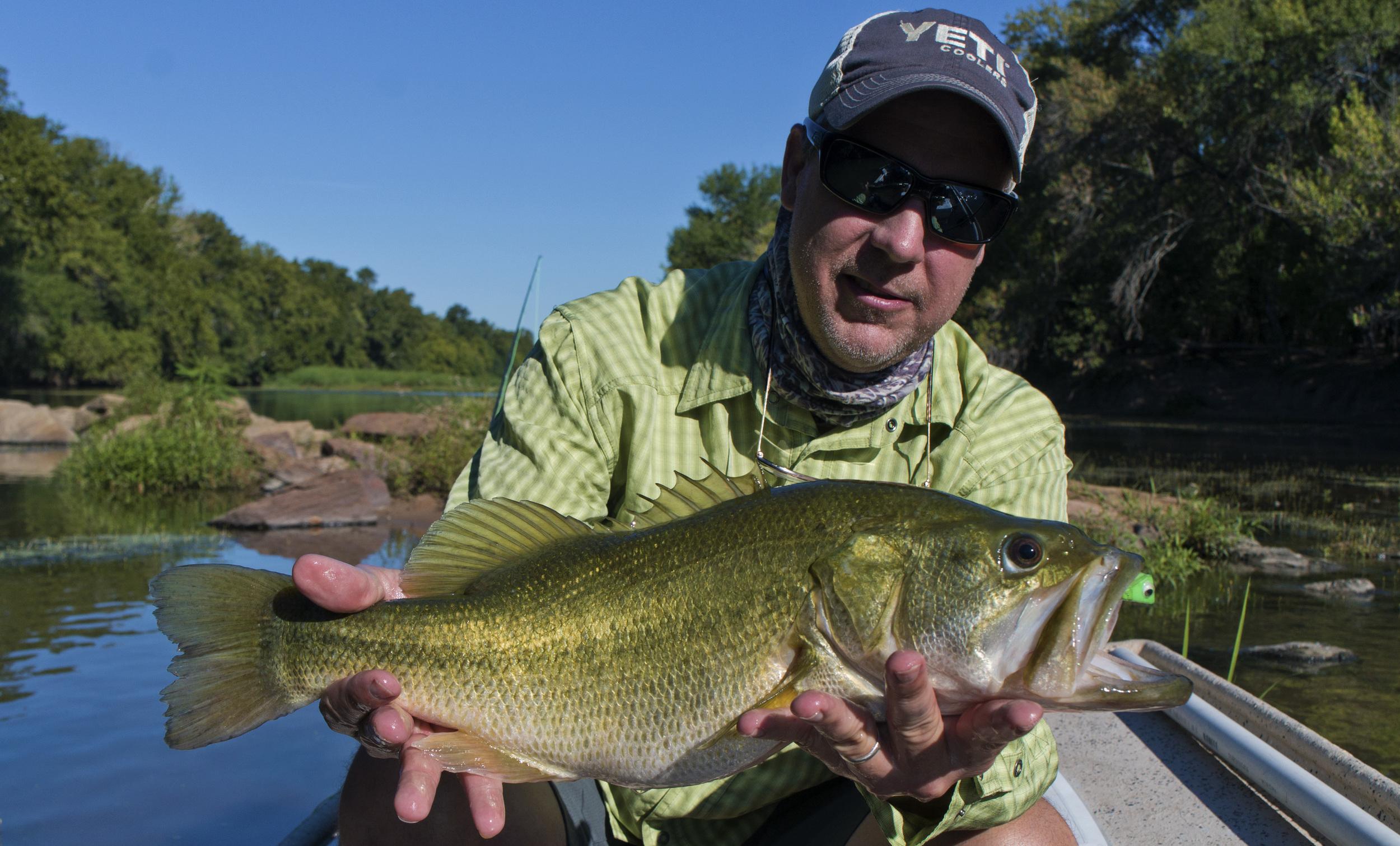 Jeff Davis with a 5 pound Colorado River bass