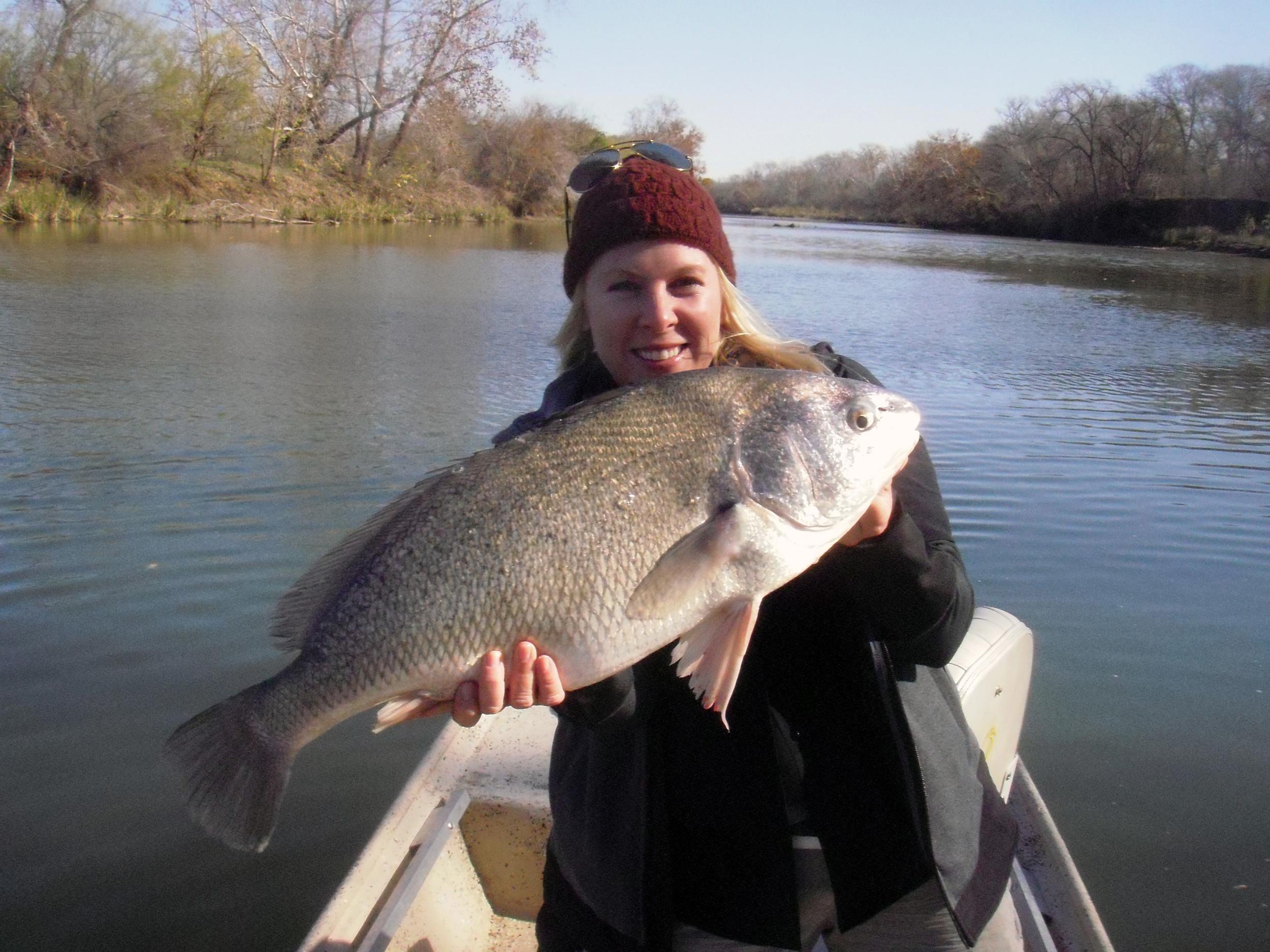 Jenn Koch with a Colorado River drum