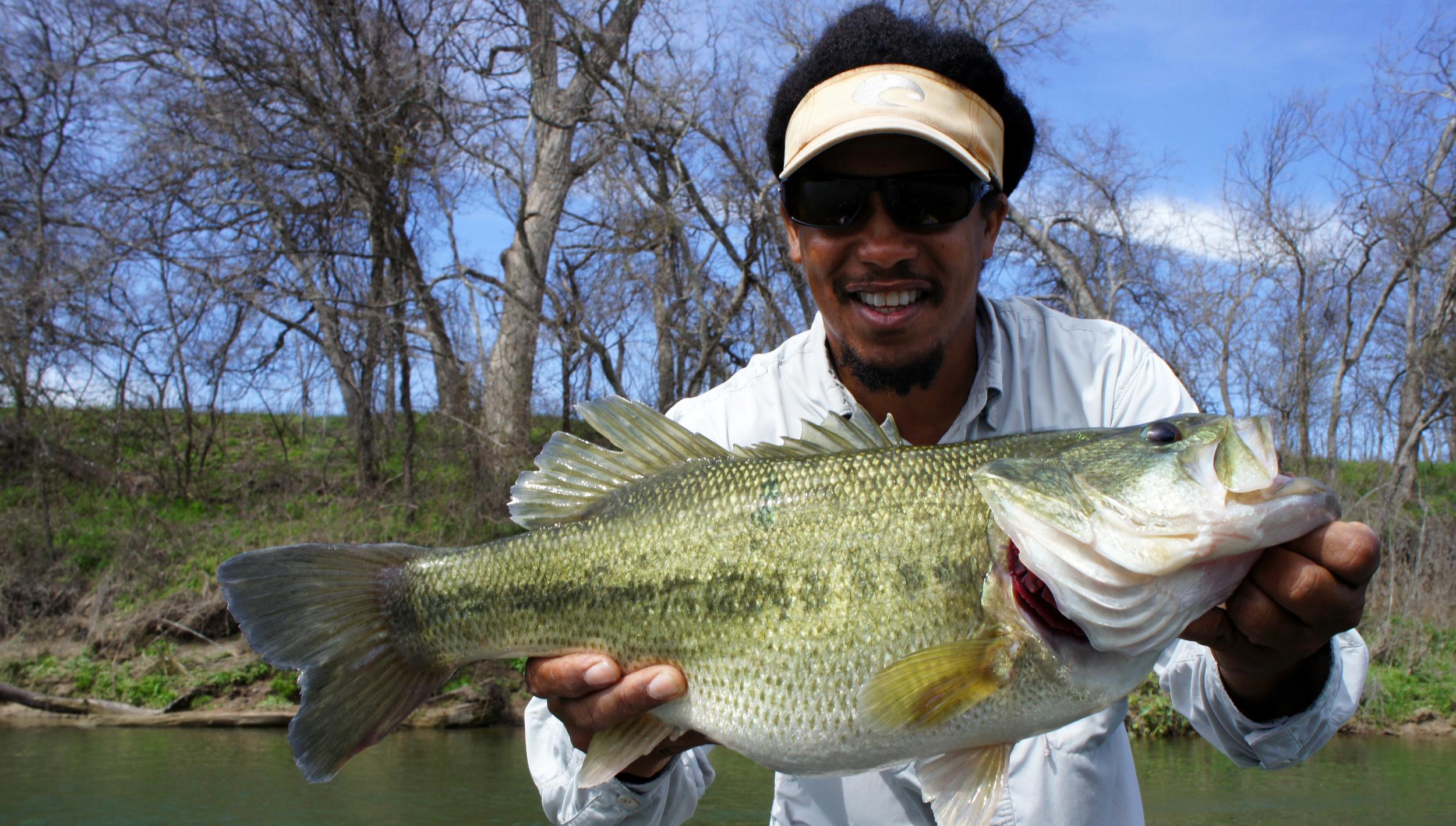 Alvin with a huge Colorado River bass
