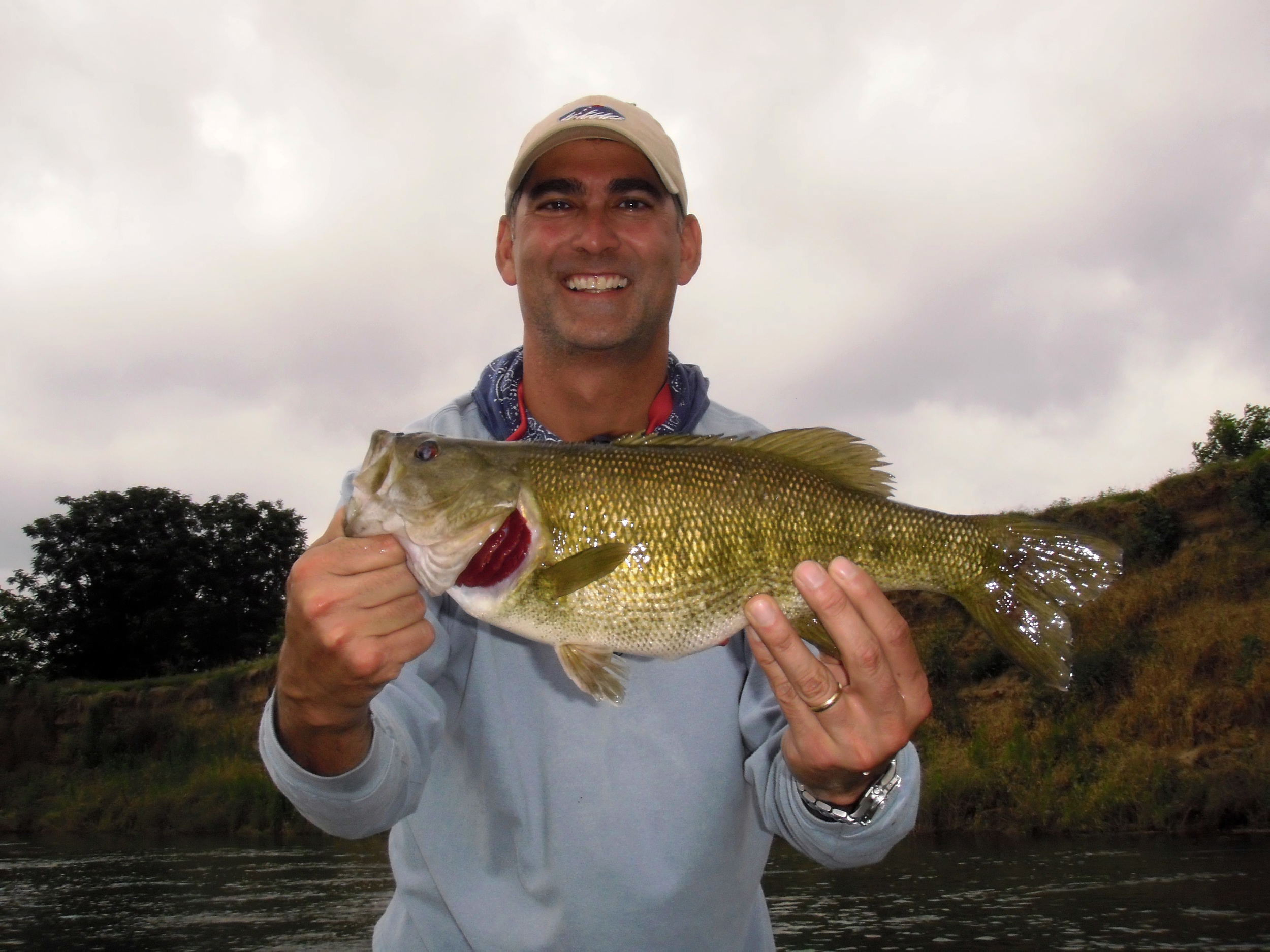 Mike with a Colorado River Guadalupe bass