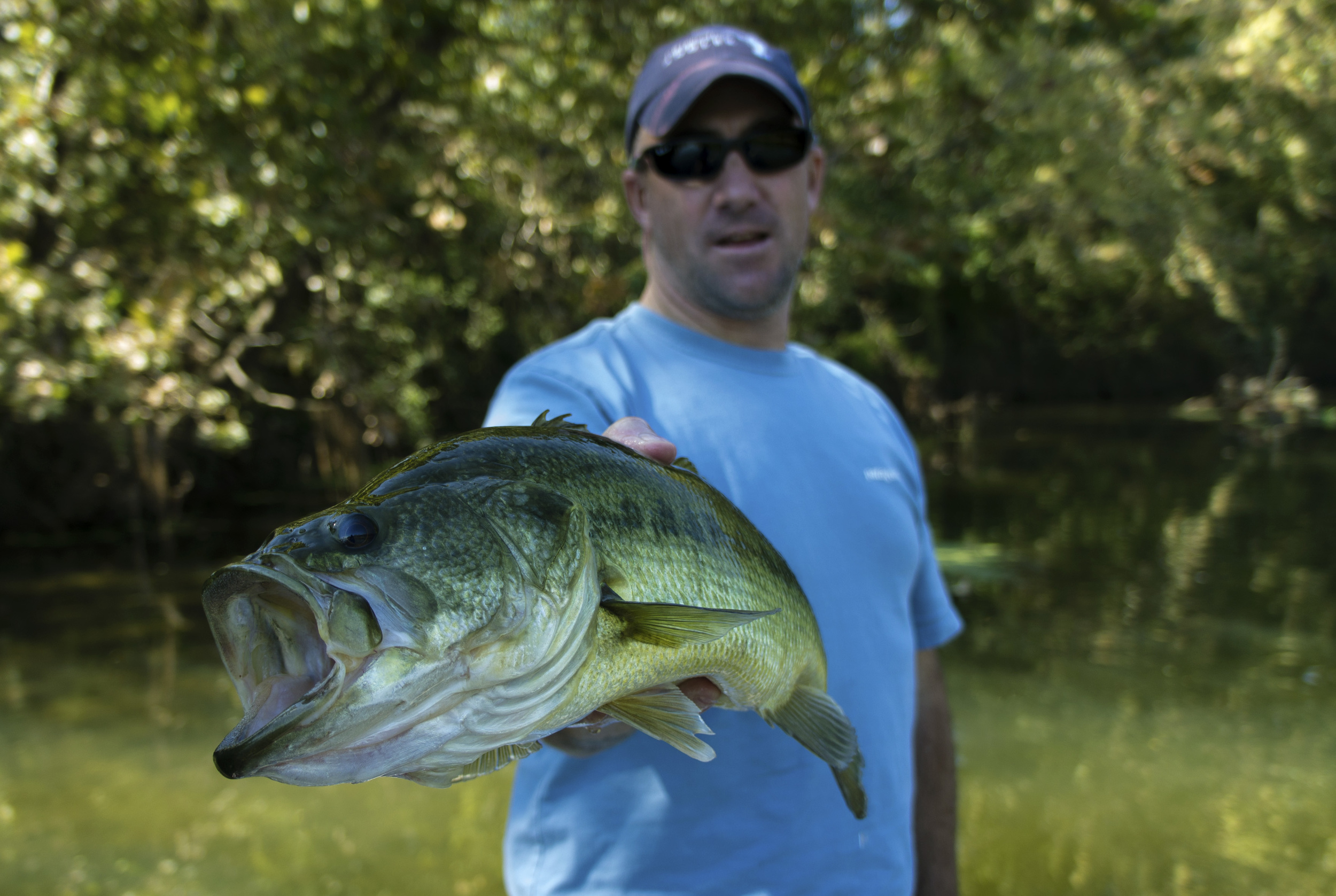 Winston with a Colorado River bass