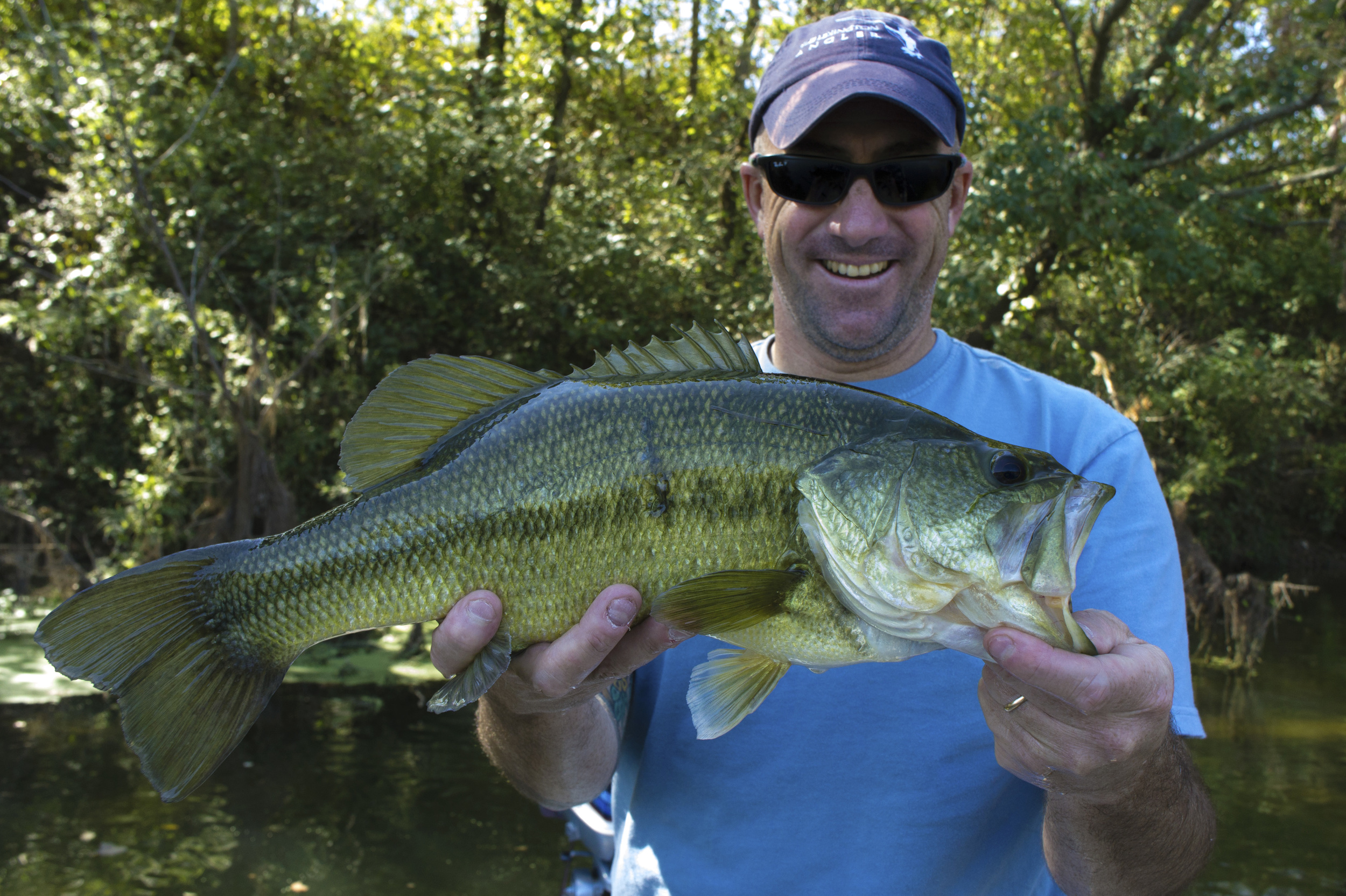 Winston Cundiff with a huge Colorado River bass
