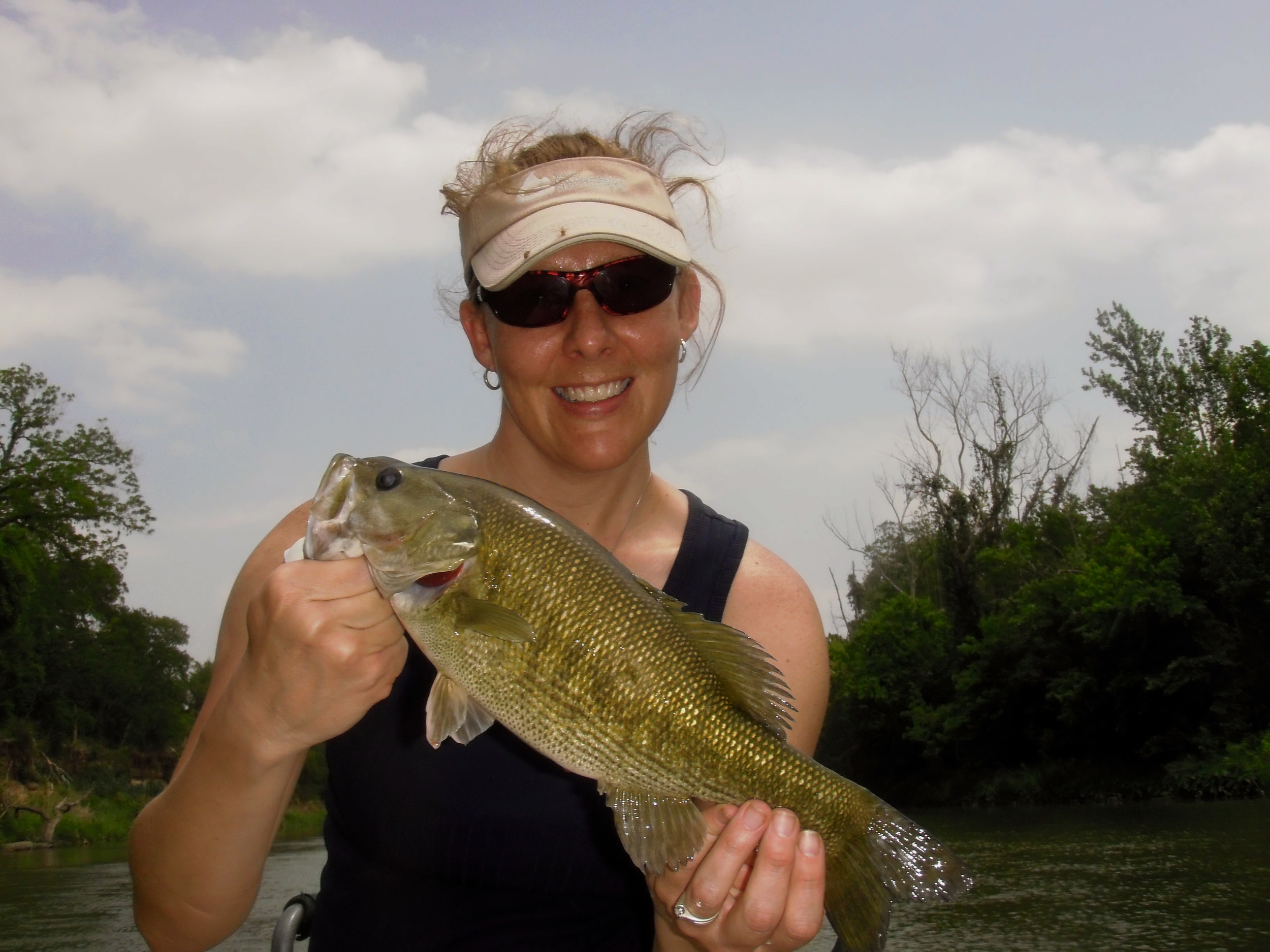 Carrie Henderson with a Colorado River Guadalupe Bass