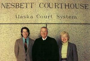Anchorage Municipal Wellness Court founders, John Richard, Judge Jim Wanamaker and Janet McCabe.