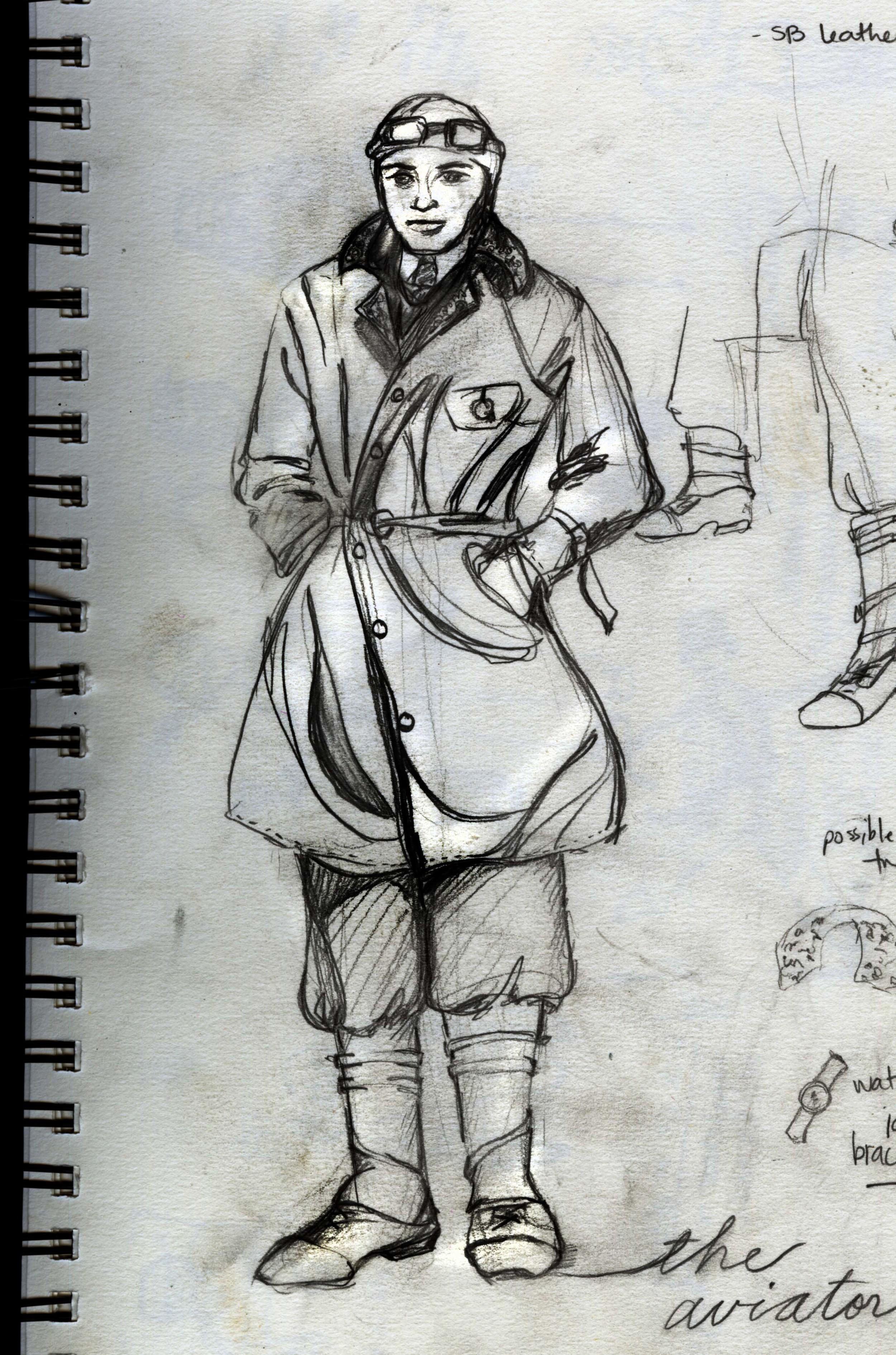 The Aviator: Pencil Sketch