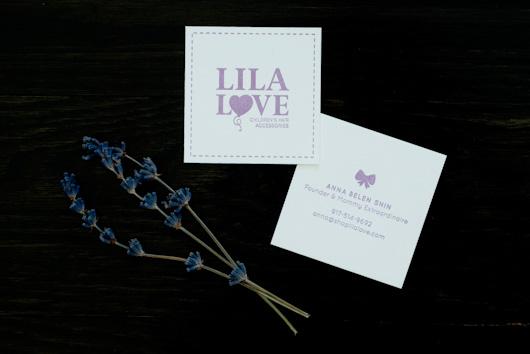 Lila Love Letterpress Business Cards