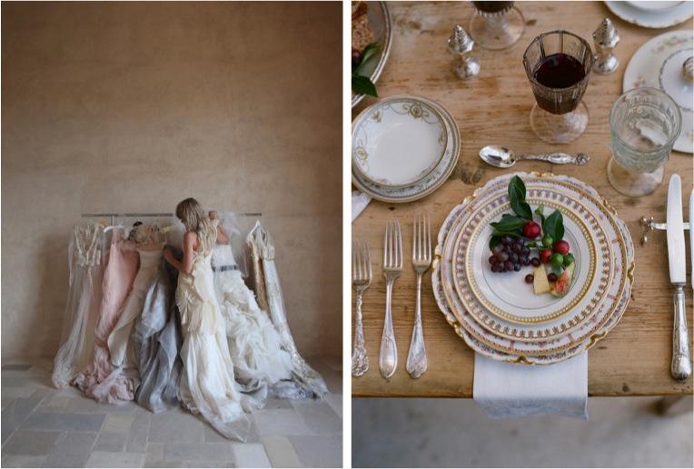 wedding dress-reception setting-rustic