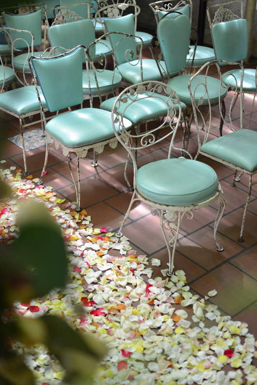 vintage turquoise chairs