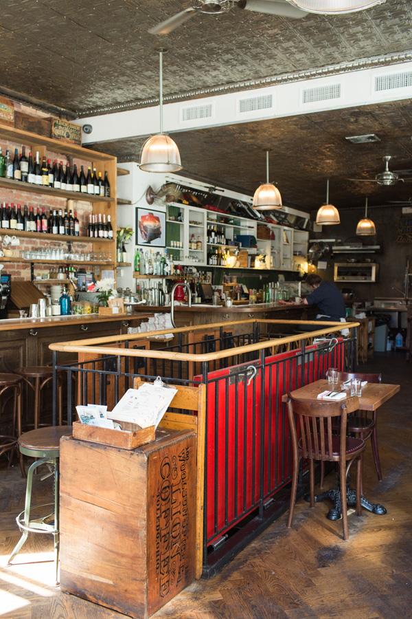 Interior of Jeffrey's Grocery restaurant