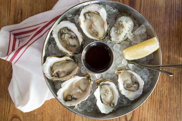 Oyster plate from Jeffrey's Grocery