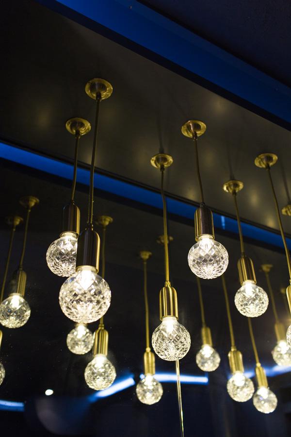 Hanging lighting at Flat 128