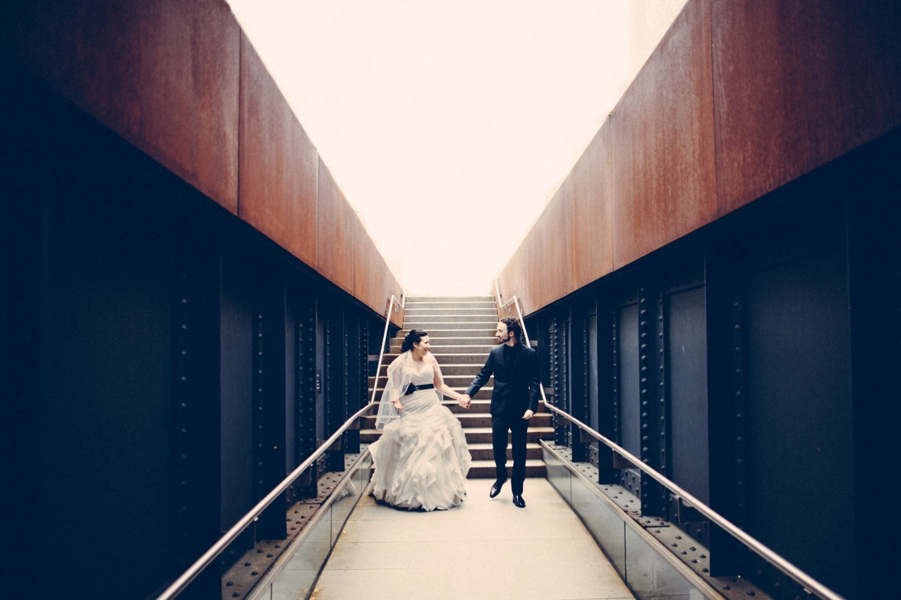 Bride and Groom on Highline