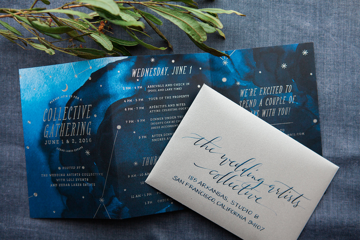 Celestial-themed fête under the stars - Featured on 100 Layer Cake