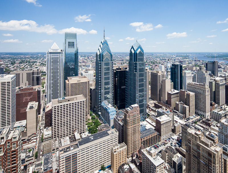 Philadelphia from 750 feet.