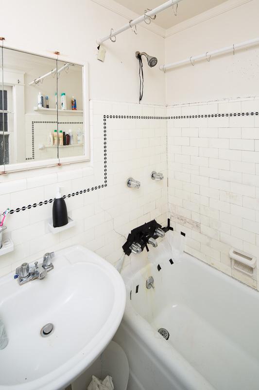 The bathroom pre-renovation.