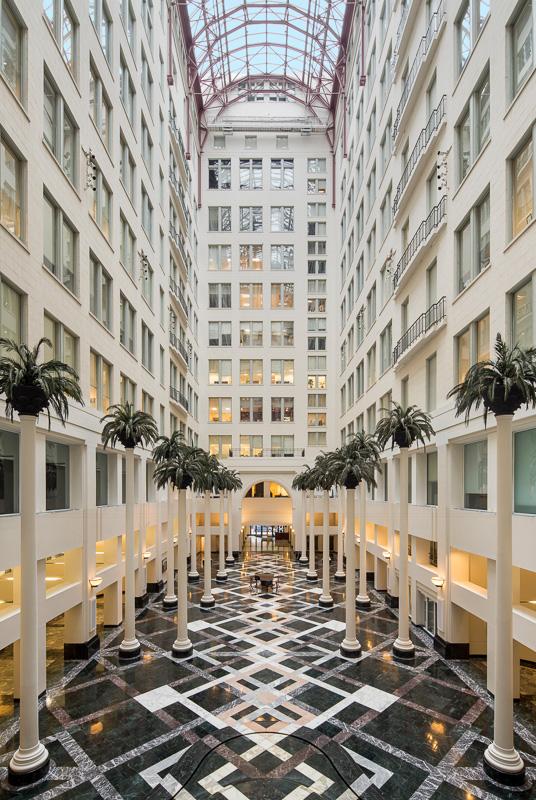 Central atrium of Curtis Center.