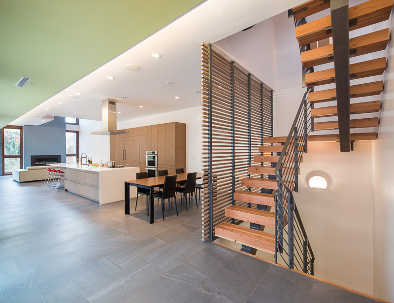 This town house features an open space plan.
