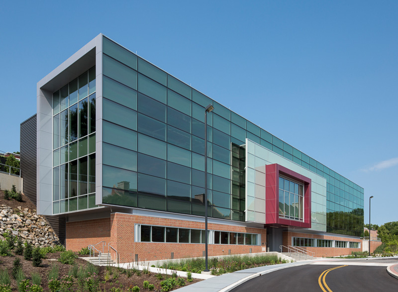 Exterior of the newly opened IPEX building, University of the Sciences, Philadelphia.
