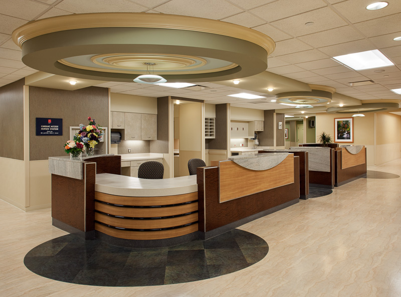Reception area at Morristown Hospital.