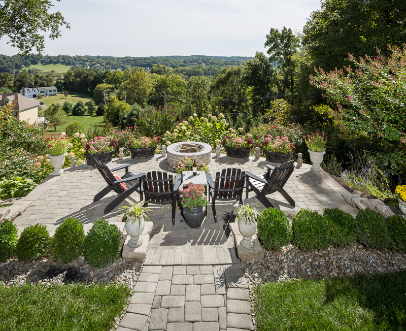 Put your feet up and watch the sunset from this gorgeous private patio in Chester County, Pennsylvania.