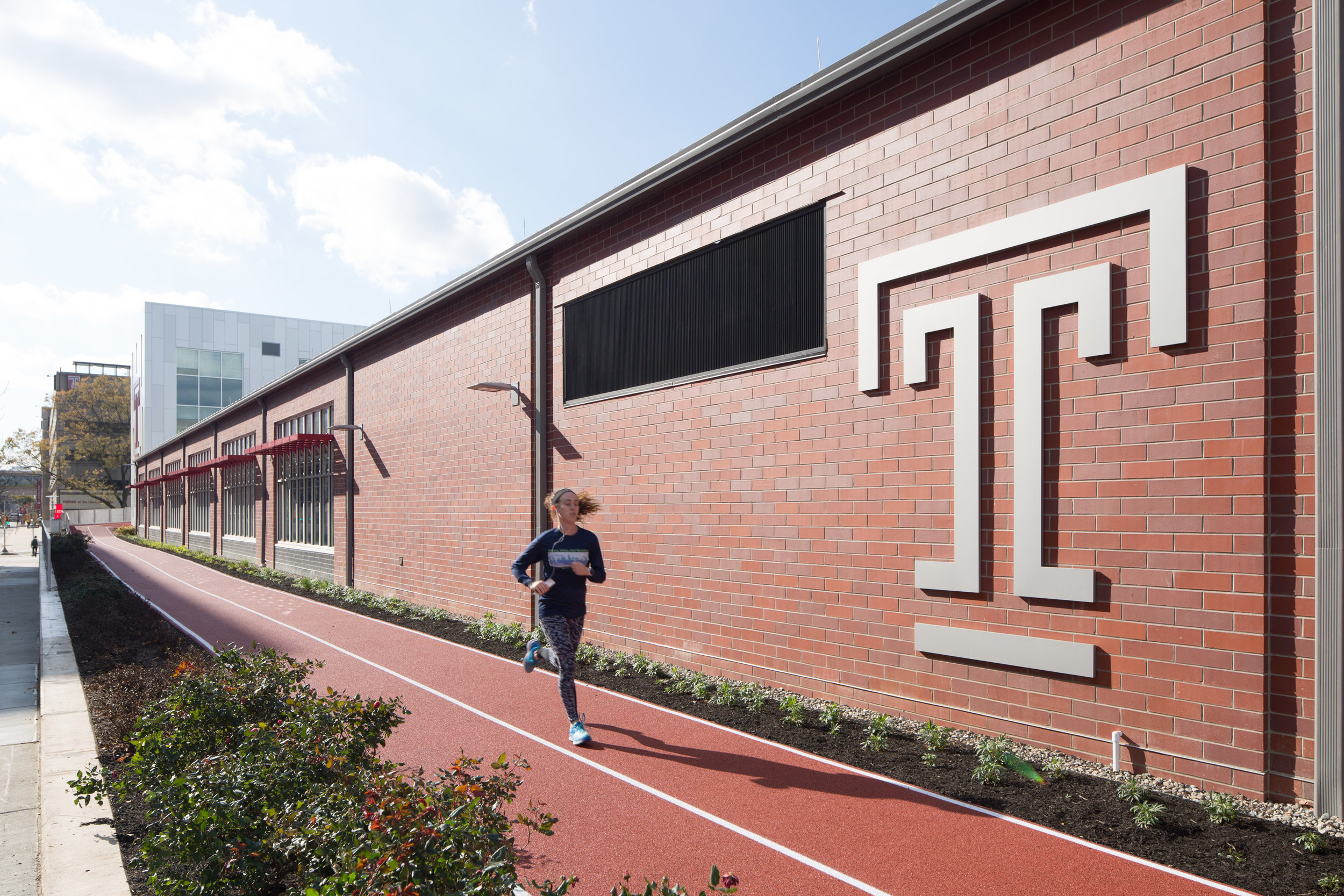 A new 400-meter, 2-lane track encircles the facility.
