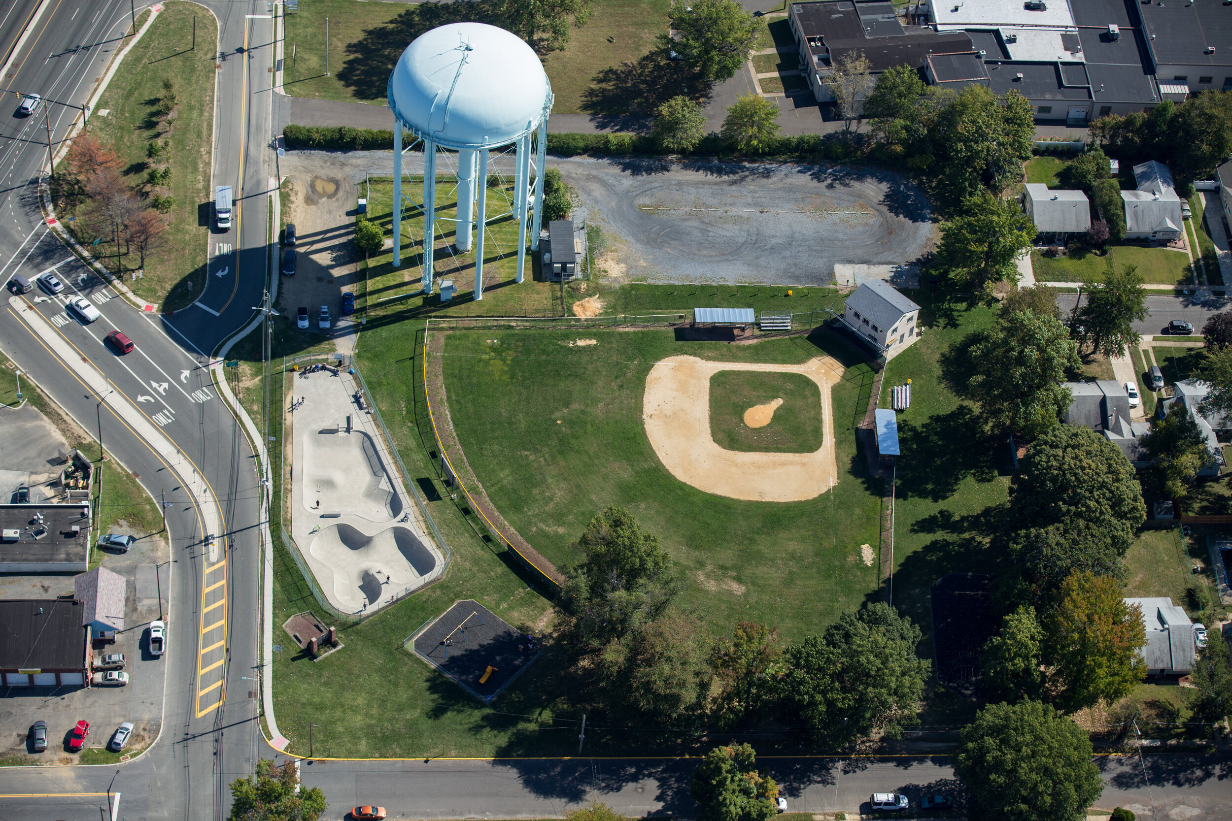 Skate park vs ball park.