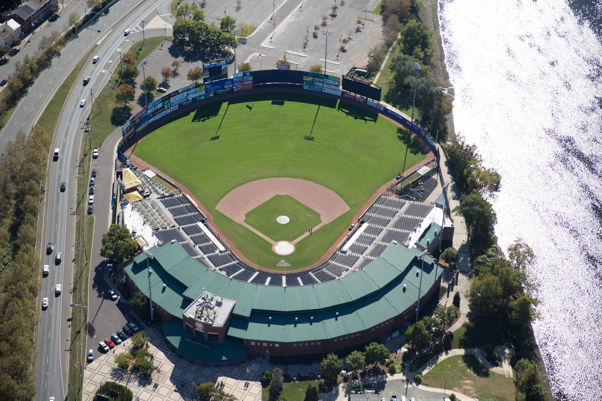 Summer and winter – Trenton Stadium.