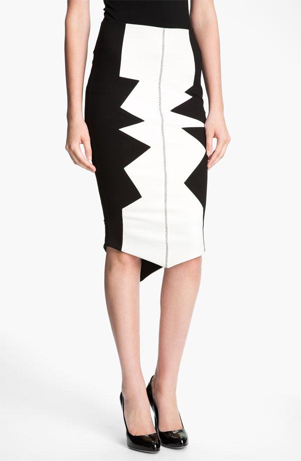 Kelly Wearstler 'Organto' Contrast Panel Knit Pencil Skirt - $395 at Nordstrom.jpg
