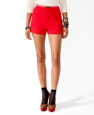High-Waisted Ponte Knit Shorts - $29.80 at Forever 21.jpg