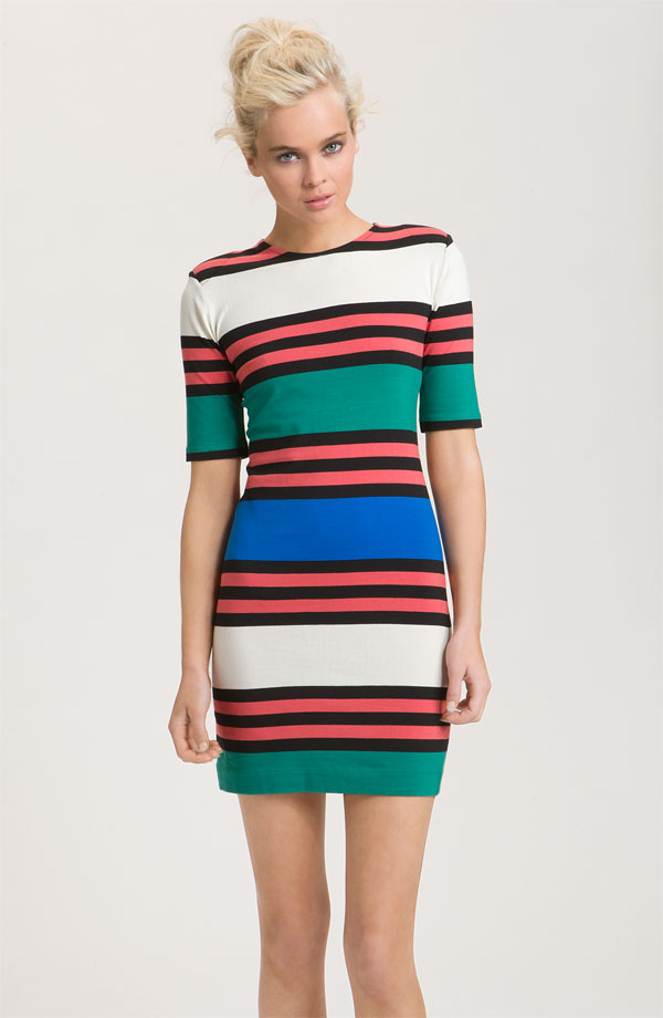 French Connection 'Jag' Multi Stripe Jersey Dress.jpg
