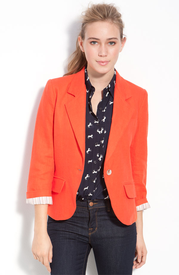 Gibson Linen One-Button Blazer.jpg