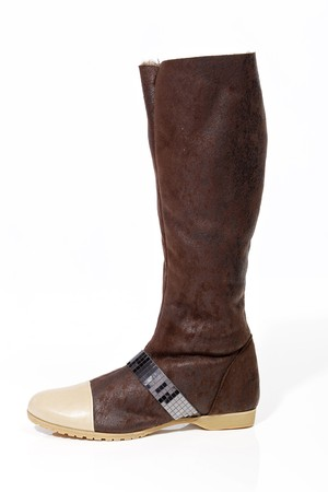 Olsen Haus ultrasuede boot with faux fur backing