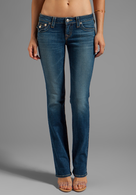 TRUE RELIGION Billy Low Rise Straight Leg      $198