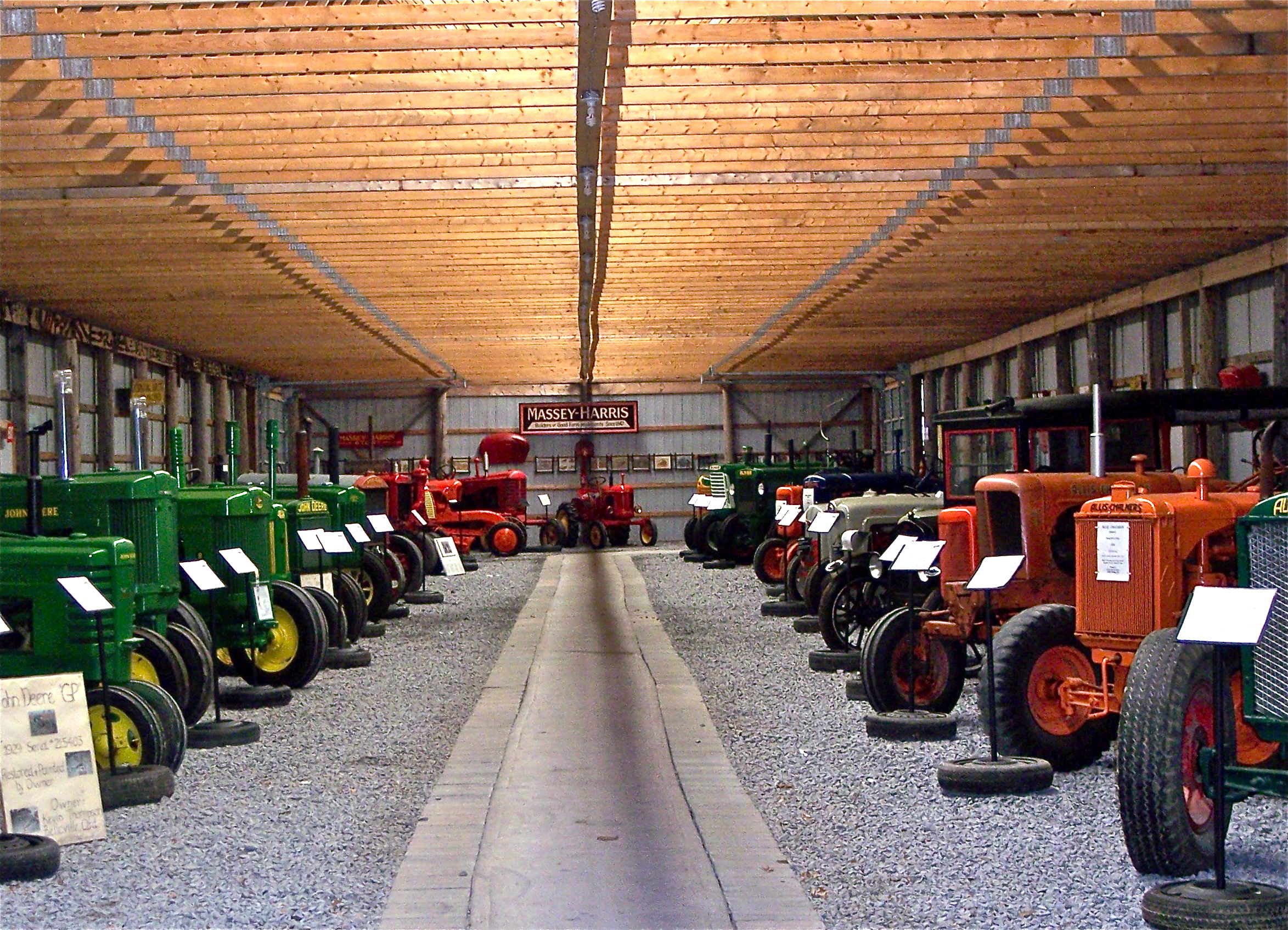 The Tractor Building is home to over 60 antique tractors.
