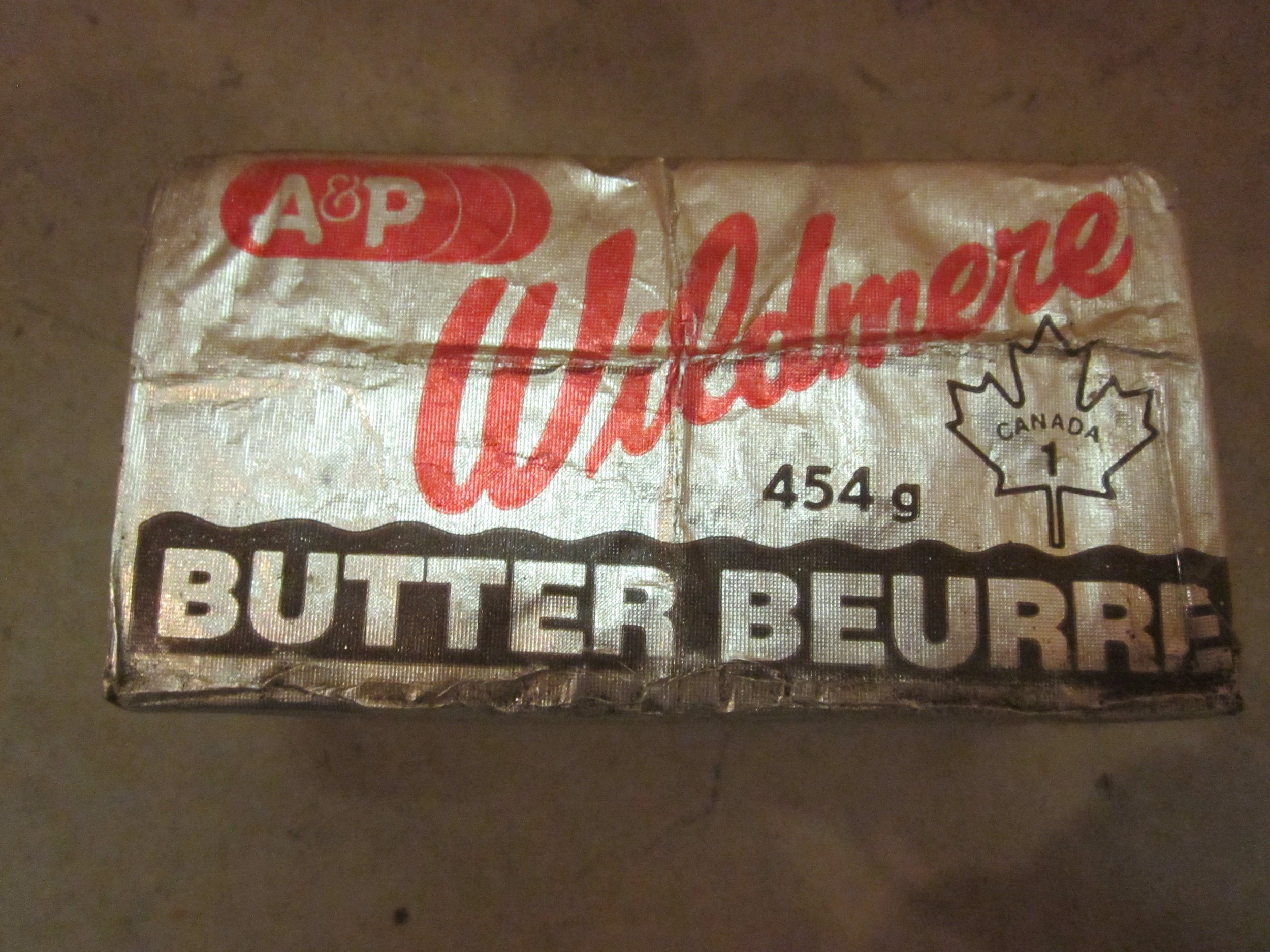 Butter wrapper