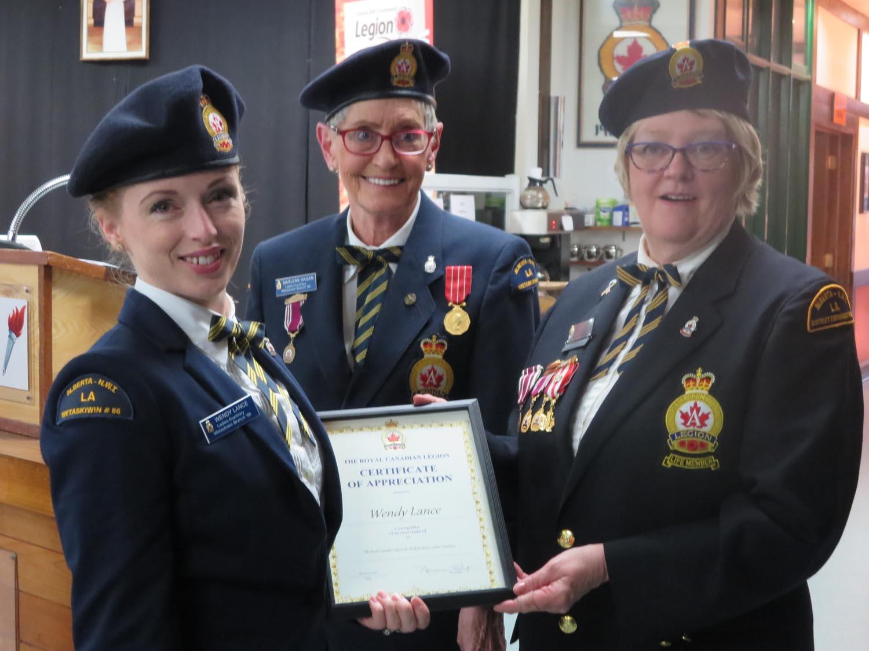 15. Wendy Lenz - Certificate of Appreciation.JPG