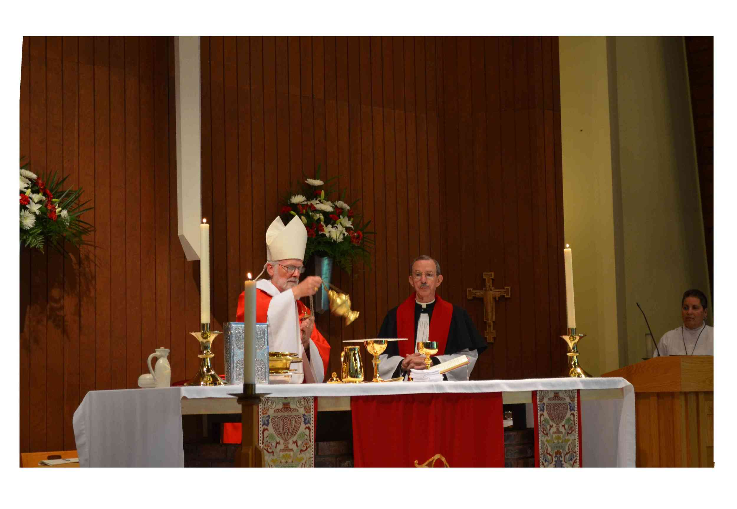 Dedication of candle holders and purificators for the main altar