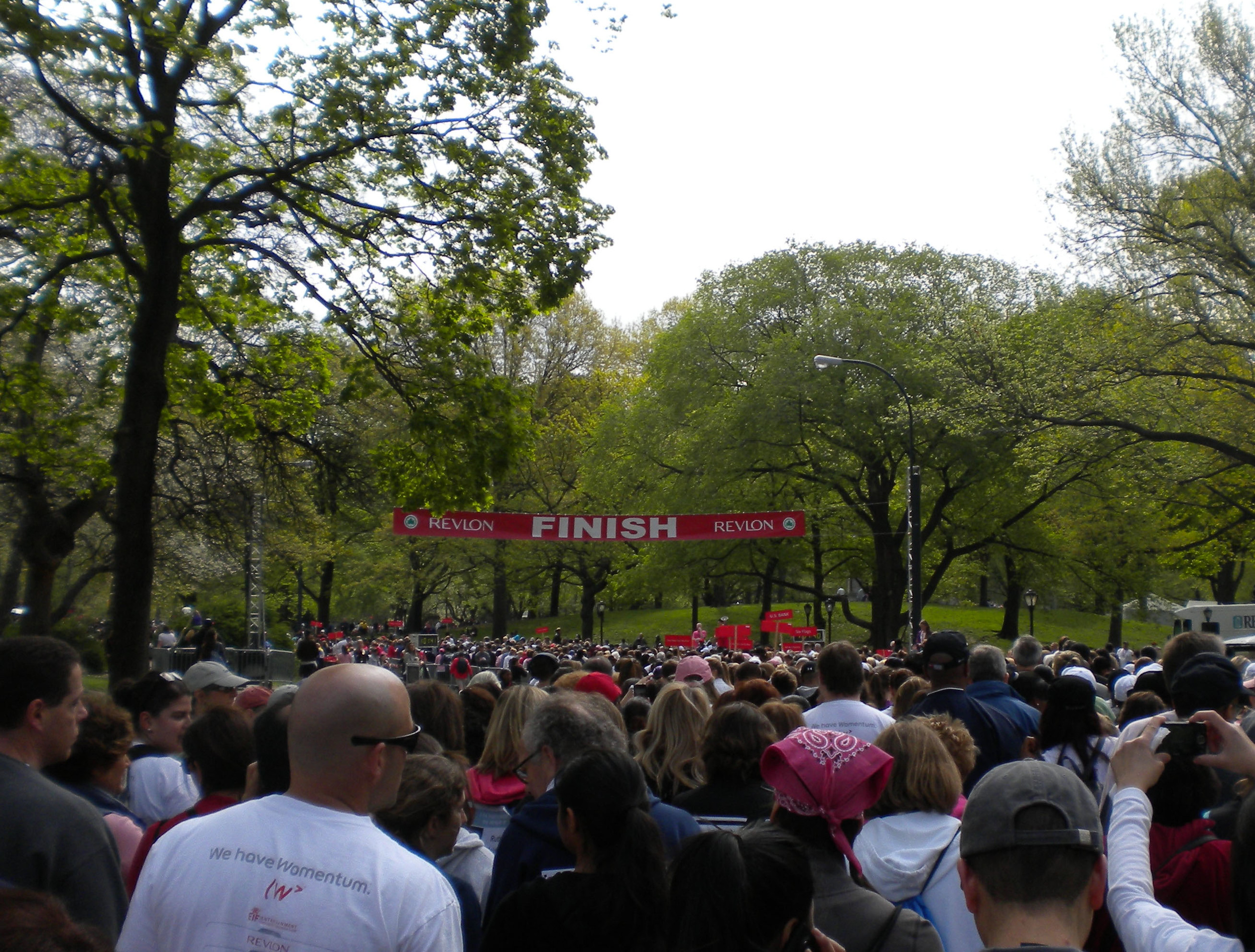 The finish line in Central Park