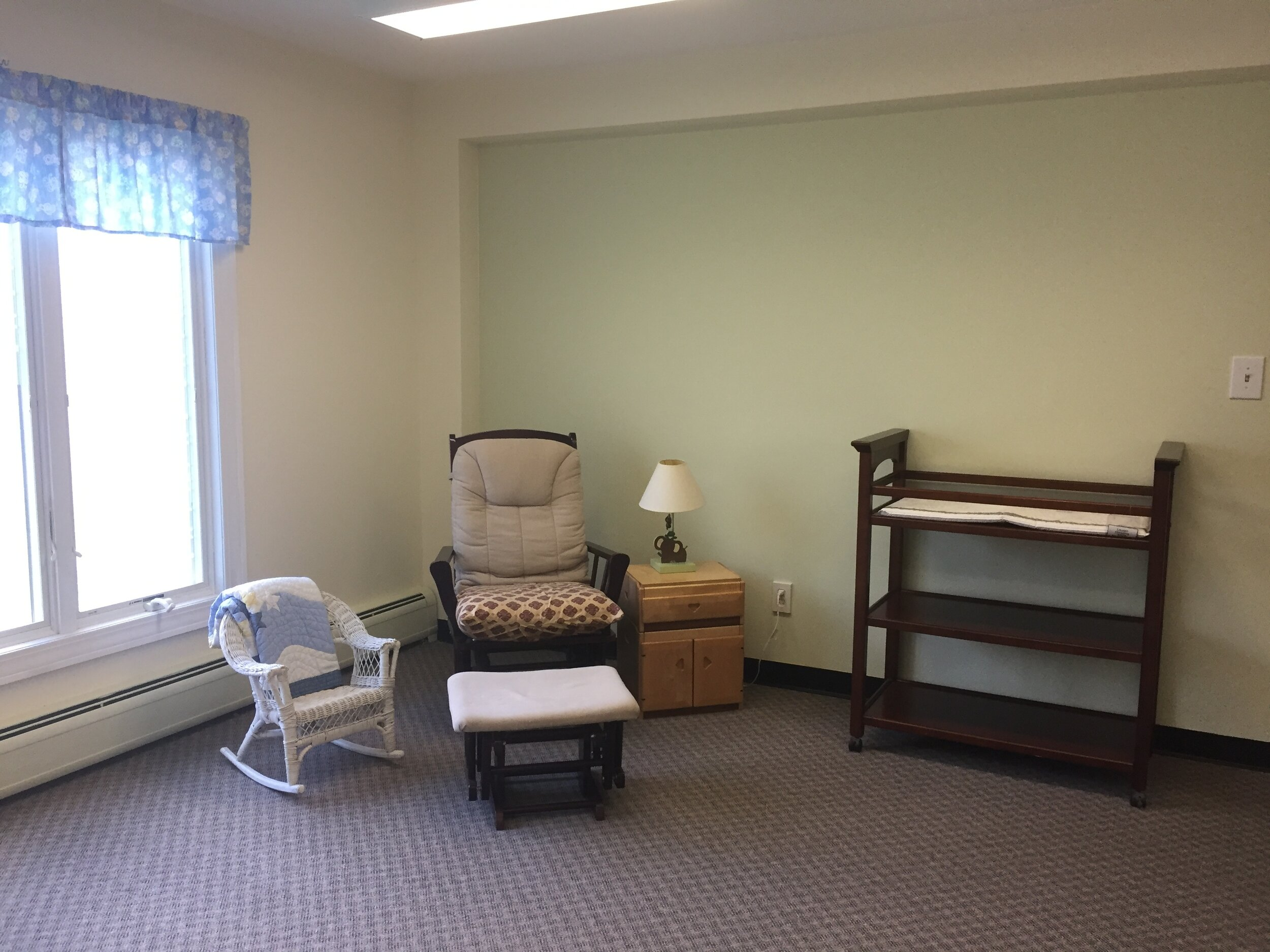 The nursery room is off of the Common Room.